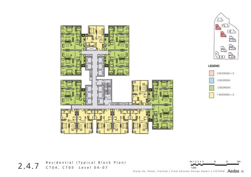 Thiết kế sơ bộ chung cư Vinhomes Gallery Giảng Võ