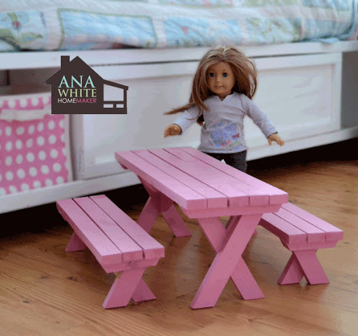 Doll X Picnic Table And Bench Set Ana White