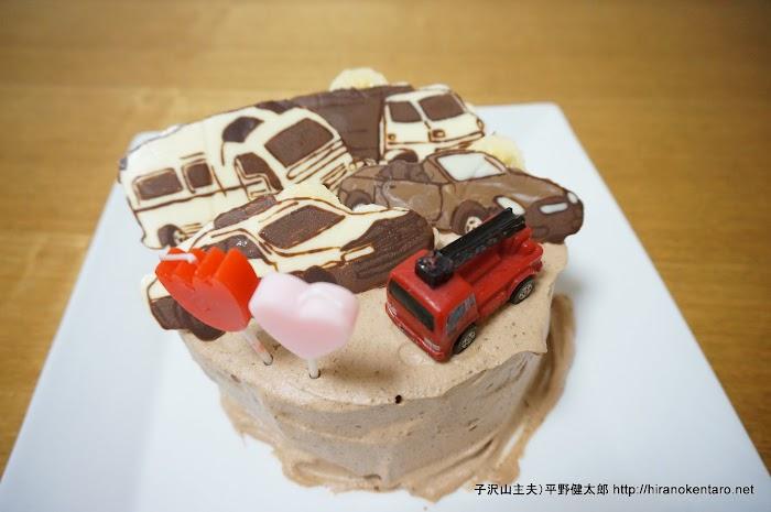 次男4歳の誕生日ケーキ