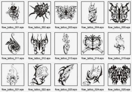Flowers Tattoo Clipart Collection