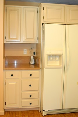 Remodelaholic freshened up kitchen remodel around - Peach color kitchen ...