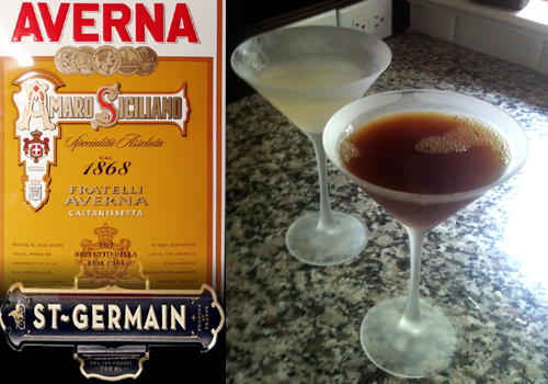 Summer Martinis: The St Germain Appeaser and Averna Sofisticato
