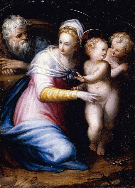 Prospero Fontana - Holy Family with the Infant St John the Baptist