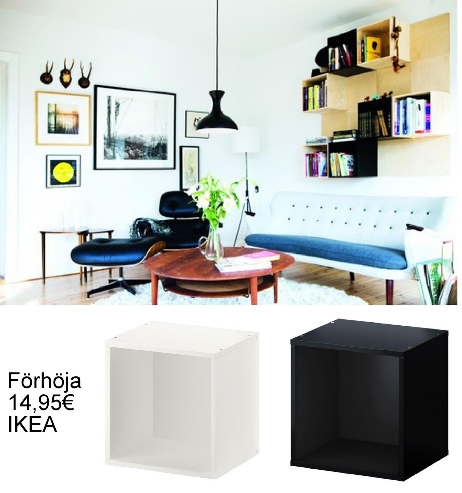 Ikea hack pared de cubos te atreves - Estanteria cubo ikea ...