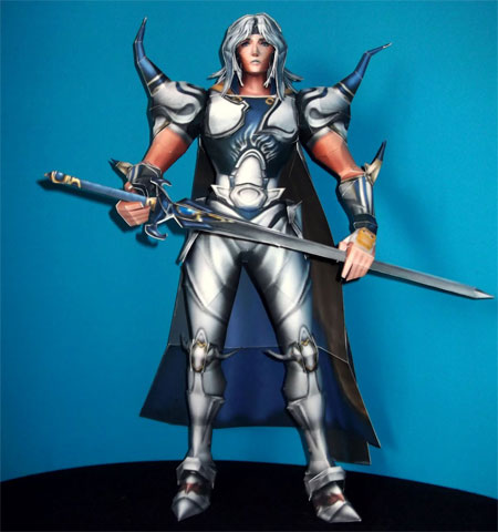 Dissidia Final Fantasy Papercraft Cecil Harvey Paladin