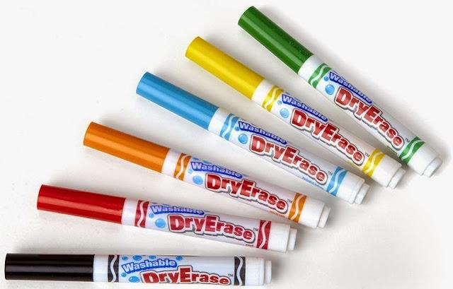 Bút lông viết bảng Crayola 6 màu nét rộng, có thể tẩy rửa được