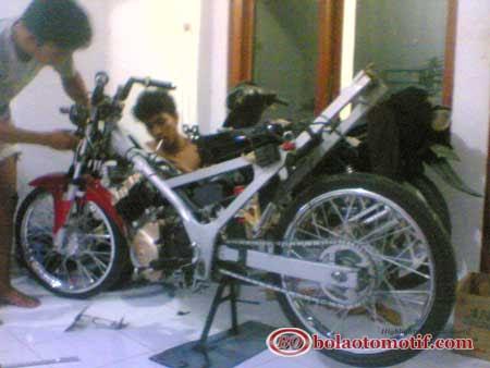Bore Up Suzuki Satria Fu 150 Jadi 200 Cc Untuk Puasin Drag Motor