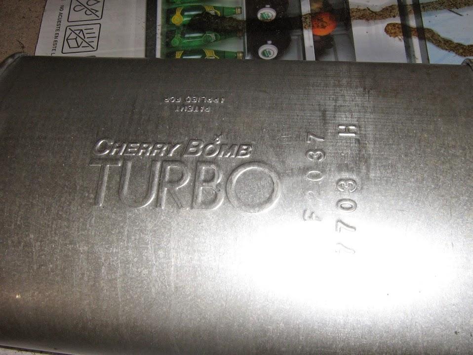 One Cherry Bomb Turbo Muffler NEW IMG_7171