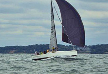 J/111 one-design sailboat- sailing TriState Race