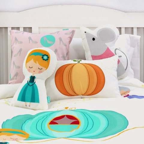 Mr Fox Pumpkin Bedding - Cinderella cushion