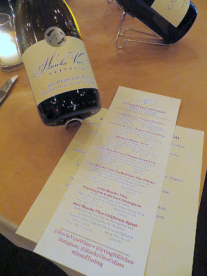 A Grand Feast of Oregon, by Hawks View Cellars and Irving St Kitchen, starting out with 2012 Hawks View Oregon Pinot Gris