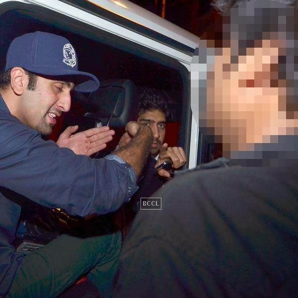 Despite repeated plea actor Ranbir stayed mulish and refused to return the video camera. (Pic: Viral Bhayani)