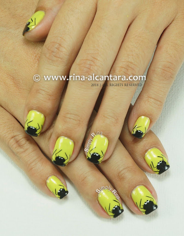 Itsy Bitsy and Hairy Spiders Nail Art Design by Simply Rins
