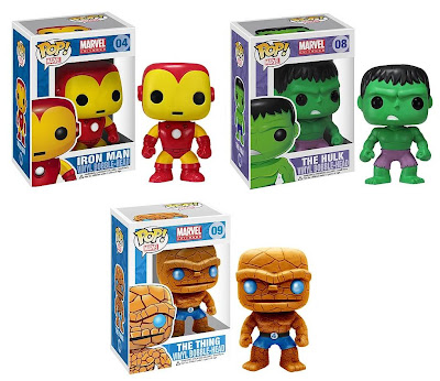Marvel Pop! Vinyl Figure Bobble Heads - Iron Man, The Incredible Hulk & The Fantastic Four's Thing