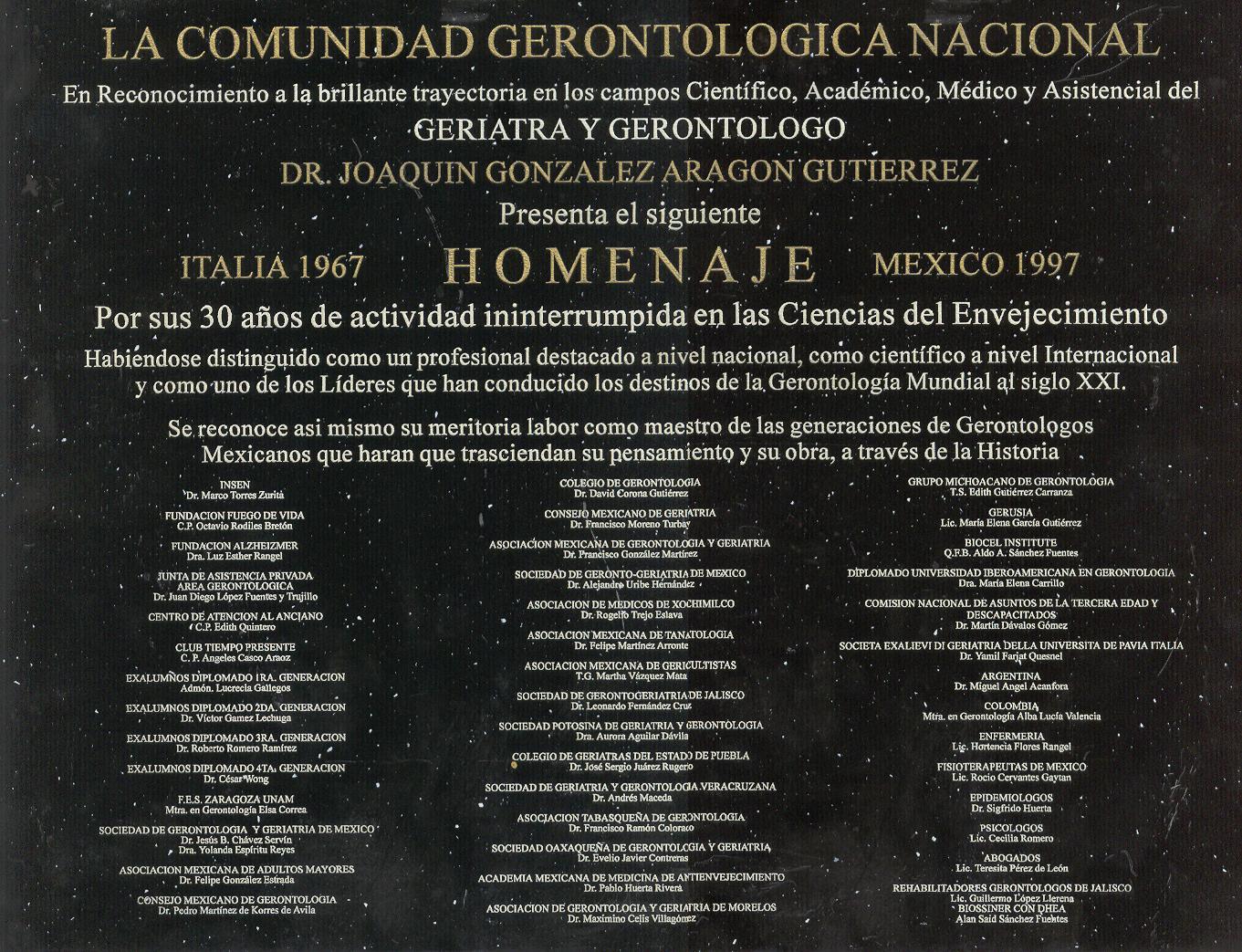 DR. JOAQUIN GONZALEZ ARAGON: Currículum Vitae y Biografía