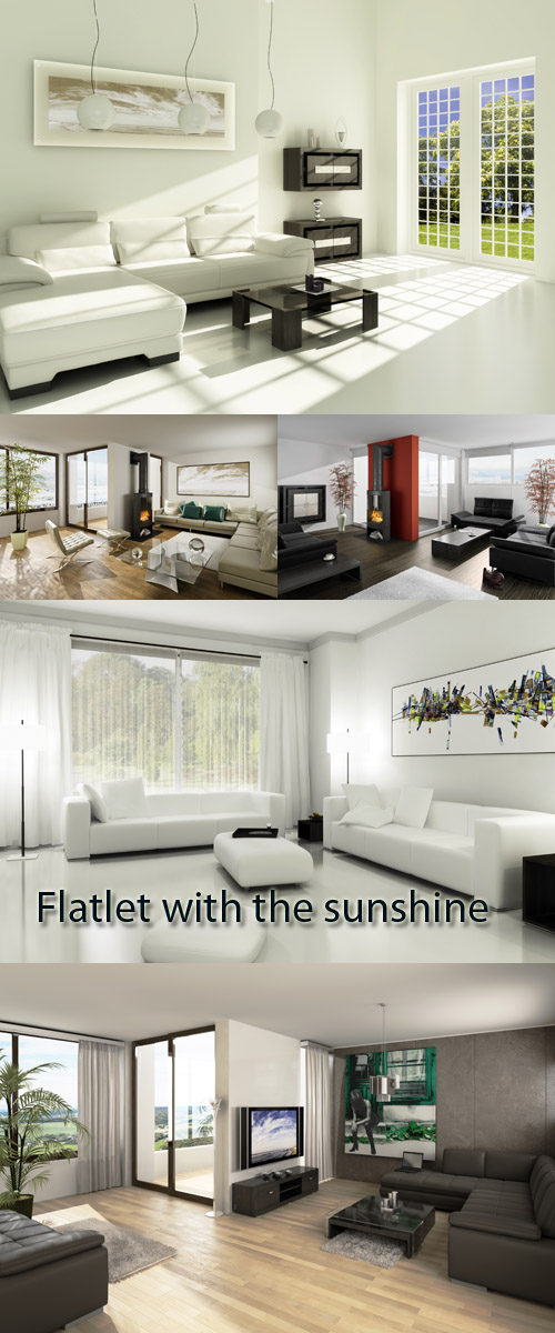 Stock Photo: Flatlet with the sunshine