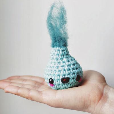 Amigurumi water drop free crochet pattern