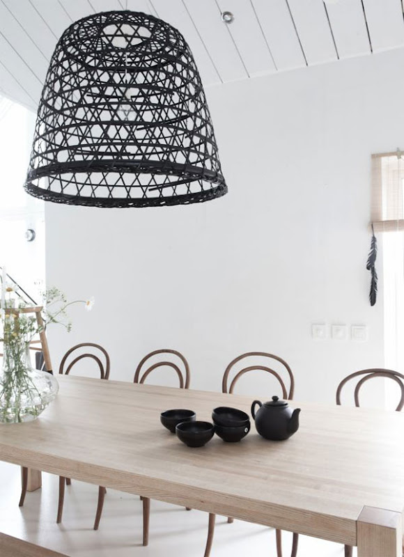 Lámpara hecha a mano