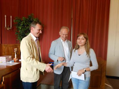 Str. Czerny , Obmann Reif mit Elena Semenova (beste Dame)