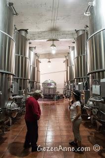 Kapadokya'da Ürgüp'teki Turasan fabrikasının üretimhanesi