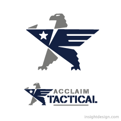 Acclaim Tactical logo design Savannah