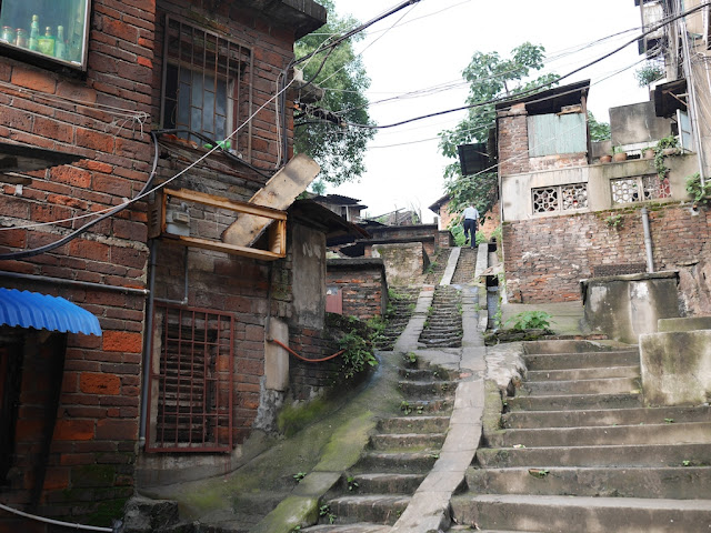 steep outdoor stairs in Hengyang
