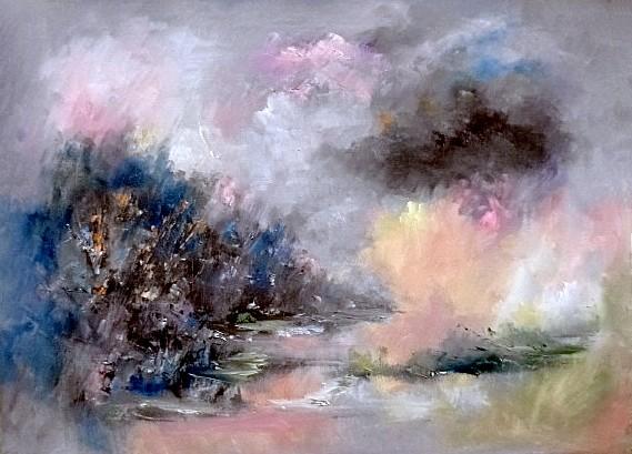 """""""A Gentle Breeze"""" by Barbara St. John. Acrylic. $350.00"""
