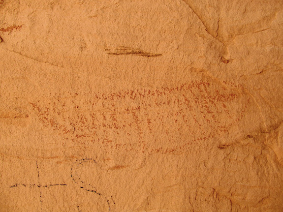 Pictograph in the larger cave
