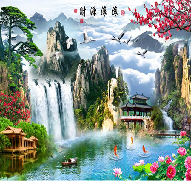Tranh Thác nước Phong cảnh Đẹp.
