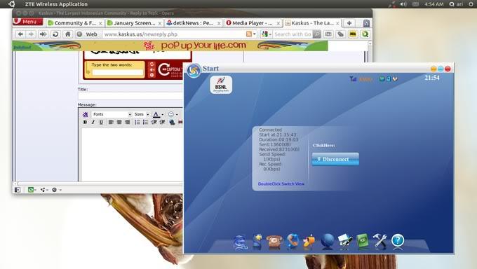 Aplikasi dialer modem ZTE di Ubuntu