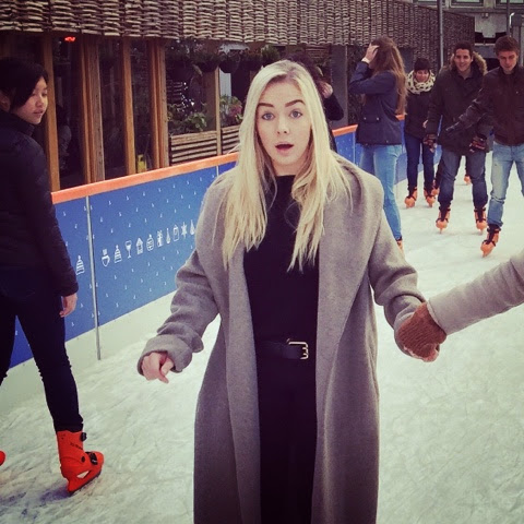 Outdoor ice skating in Manchester.