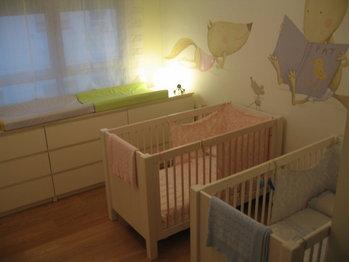 Mis mellizos y yo preparando el dormitorio - Cambiadores para cunas ...