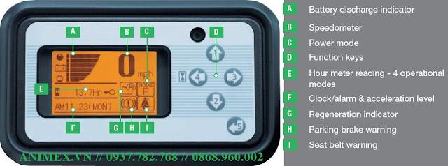 Xe nâng điện Unicarriers Nhật Bản 2.5 tấn