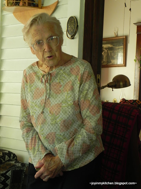 "Note: My grandmother ""loves"" having her picture taken!"