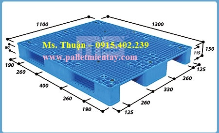 Pallet nhựa Malaysia 1300 x 1100