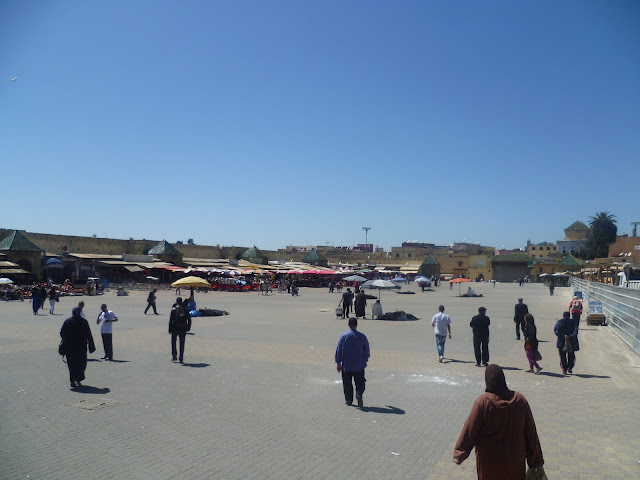 Main square at Meknes