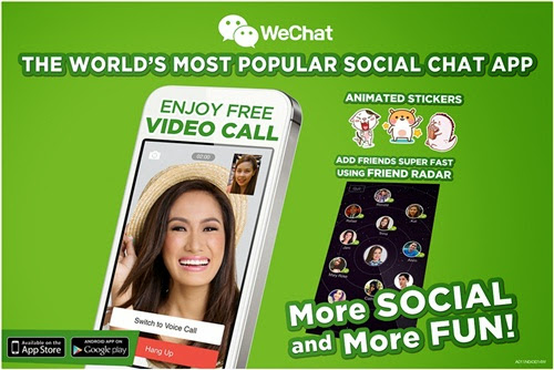 WeChat app, announcement, mum finds, gadgets + technology