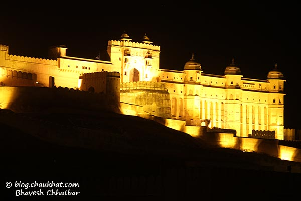 Amber Fort at night [also called Amer Fort]
