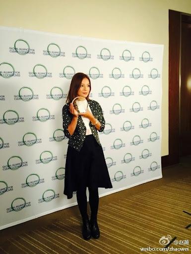 """2014.11.20_Triệu Vy trở thành đại sứ hình ảnh chương trình """"Bếp Sạch"""" của LHQ"""