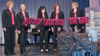 """Die """"Chor-y-Feen"""" begeisterten mit ihrem A-capella-Auftritt."""