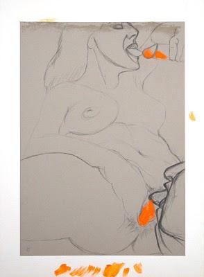 dessin erotique pornographique cunniligus triolisme