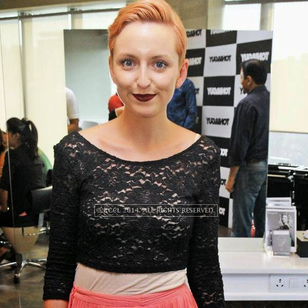 Siobhan Golden during the launch of Toni & Guy's new outlet in South Extension II in New Delhi.