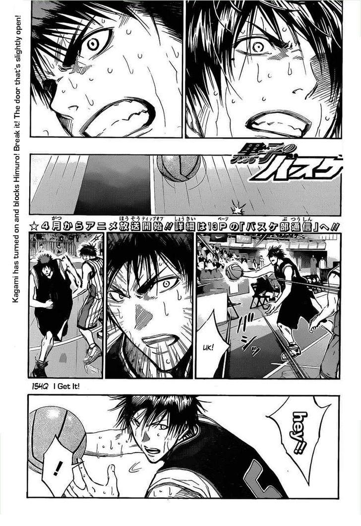 Kuroko no Basket Manga Chapter 154 - Image 01
