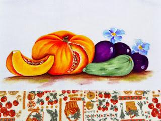 pintura moranga beterrabas e abobrinha