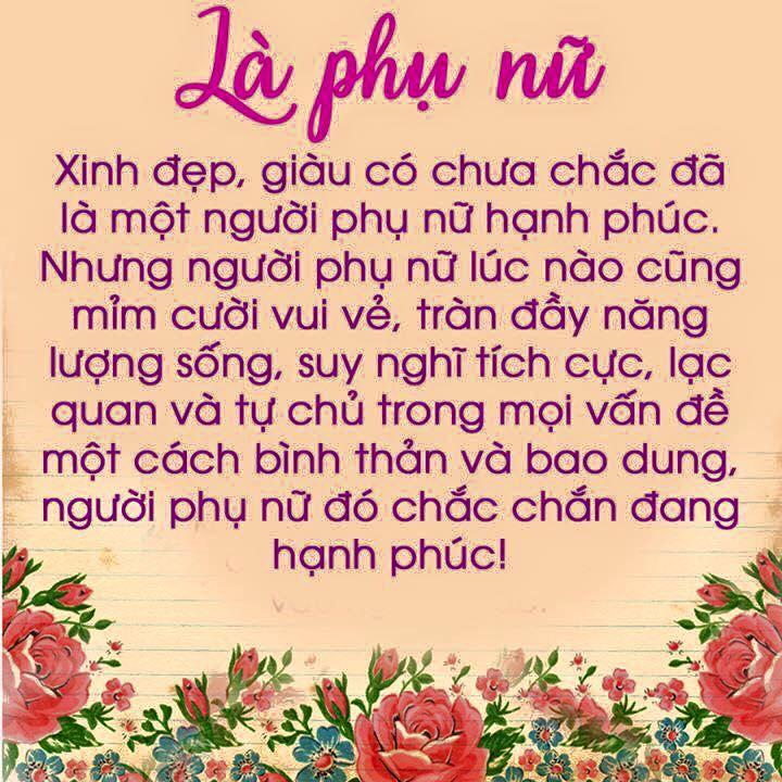 loi khuyen hay danh cho phu nu trong cuoc song