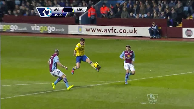 Giroud, Aston Villa - Arsenal