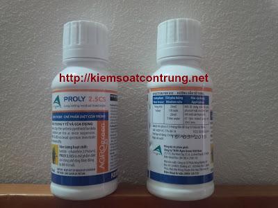 Thuốc diệt côn trùng Proly 2.5CS