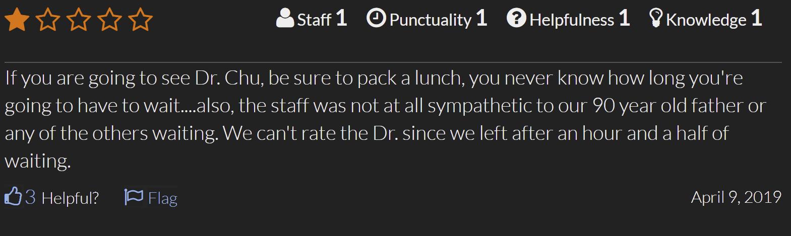 Dr. Gabriel Chu Reviews 2