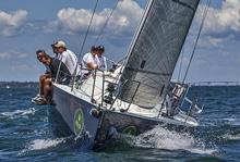 J/109 STORM sailing in Newport, RI
