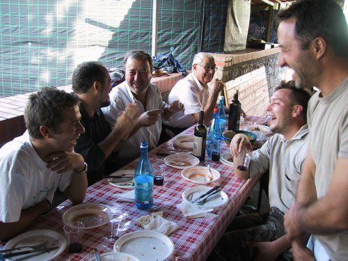 Eating out: Tuscany's locals having a great time at Camigliano's village festival